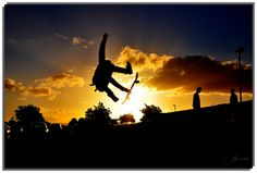 skate-boarding, silhouette, sports photography