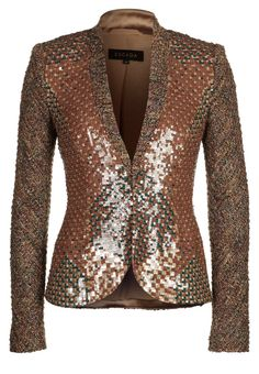 I can just see this with jeans... or dressed up paired with a pencil skirt. Yes Please!