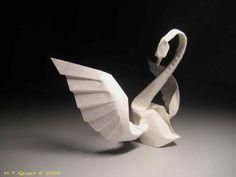 Cisne con Origami, el arte de plegar papel • Cool origami swan