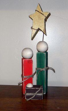 Nativity Crafts | Simple Wooden Nativity Set - | crafts