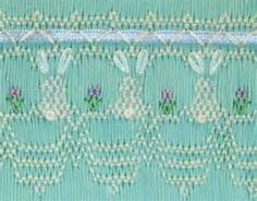 Bunny smocking plate option 2 | Smocking and sewing for children | Pi ...
