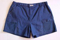 COLUMBIA Sportswear Blue PFG Half Moon Outdoor Fishing Chino Cargo Shorts 3X #Columbia #Cargo