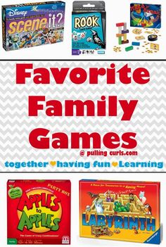 "Playing family games might be ""old school"" but it teaches so many different things including sportsmanship, cooperation, and even allows you to get out some aggression if needed {SORRY}.  Here's some of our favorites!"