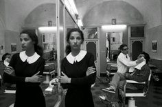 Ferdinando Scianna - Photo shoot made for D & G, Caltagirone (Sicily) of 1987. Model Marpessa