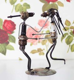 Recycled Spark Plug Statues - Recycled Art Handmade in Africa - Swahili Modern - 4