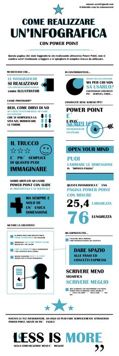 Crea infografiche con power point by simone serni via slideshare