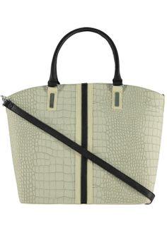 Croc Effect Tote Bag - Matalan