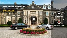 THE STONE MANSION $49,000,000  Richzer Zenvlog. Rich lifestyle and wealth zentools. Follow Richzer for all the latest updates. #wealth #rich #luxury #zen #mega #yacht #supercar #mansion #helicopter #private #jet #exotic #recreation #visualization #tools #top #brand #style #relax