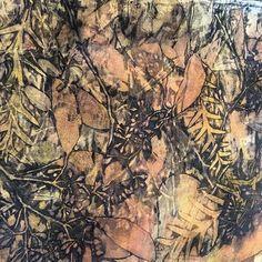 Fabulous Print today! #heartfeltsilks #studio #eucalyptus #silk #scarves #wearableart #fashion