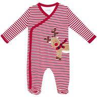 Stripe Reindeer Baby Sleepsuit D2657