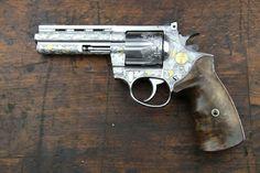 Custom engraved Korth .357 revolver