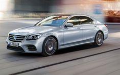 Télécharger fonds d'écran Mercedes-Benz S-Class, AMG, 2018, 4k, berline de luxe, de l'argent w222, de nouvelles voitures, de la classe affaires, l'argent de la Classe S, Mercedes