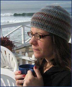 Sausalito Slip-Stitch Rib Hat - Crystal Palace Yarns - free knit hat pattern