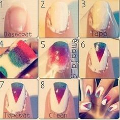 Ombre triangle nail