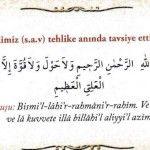 Tehlike anında Peygamber Efendimiz okumamızı öneriyor