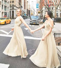 Dresses for Bridesmaids – Kleinfeld Bridal Party Gold Bridesmaid Dresses, Bridal Party Dresses, Bridesmaids, Wedding Gowns, Girls Dresses, Flower Girl Dresses, Formal Dresses, Bridesmaid Inspiration, Groom Dress