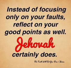Reflect on good points! I need to do this more often.... I tend to see  the negative points...