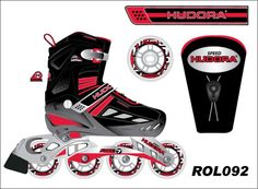 Inline skates designDone in Adobe illustrator