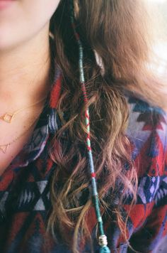 Love colorful string hair wraps!
