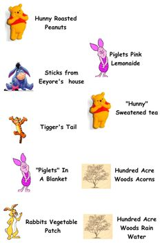 food labels for pooh party (Cheetos for tigger tails?)
