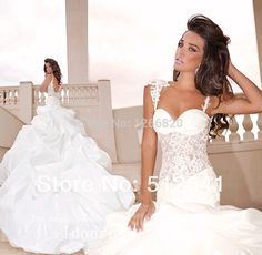 Find More Wedding Dresses Information about 2014 new Seductive Sheer Spaghetti Straps Trumpet Mermaid Wedding Dresses Lace Applique Ruffle Taffeta Bridal Gown ,High Quality dress sleepwear,China gown dress Suppliers, Cheap gown evening from Sao Tome Garments Co., Ltd. on Aliexpress.com