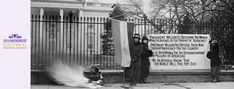 Women were the first to protest the White House. Beginning on January 10, 1917, women seeking voting rights stationed themselves outside the White House, where they would become known as the Silent Sentinels.   We're commemorating the 100th anniversary of the 19th Amendment with 12 suffrage stories from our holdings for you to save, print, or share on social.