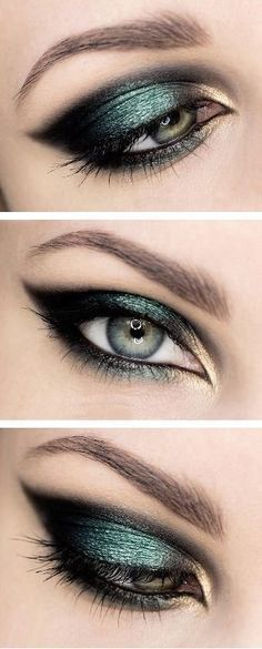 "Makeup look you could do with Arbonne ""Forest"" ""Amber"" and ""Onyx"" eyeshadow. www.jessicapiluso.arbonne.ca"