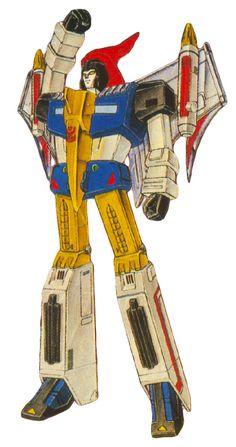 "TF:G1 Dinobot Swoop in robot mode; art from the Japanese ""T.V. Magazine"" publication."