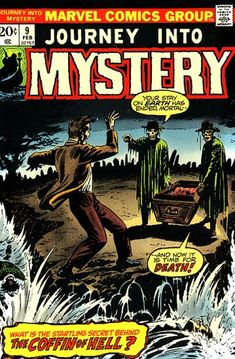 Journey Into Mystery - a Marvel Comics anthology title that centered mainly on horror tales featuring a monster of some sort or a fantasy tale that usually added a twist at the end. Never really a standout as the stories weren't nearly as good as the many other similar style comic books of the same era, though I do recall a few still. It's best remembered for introducing the legendary Marvel character, The Mighty Thor. In fact, he proved to be so popular that the comic book was retitled…