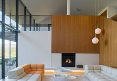 Nice integration of wood in modern home interior