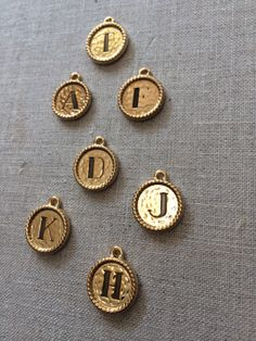 Gold Initial Coventry Charms! A perfect personalized gift! www.lisastewartonline.com