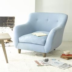MONTY ARMCHAIR | Loafhome ~ We asked 50,000 of you Loafers what we should call this amazing armchair and it's sofa companion. And Monty was the winner hands down. It was being British, The Full Package and super cuddly (like loads of your kids) that did it. Not to mention our sofa maker Paul's dog is a St Bernard called Monty. It was meant to be.