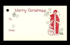 (15 Tags) SANTA GIFT TAGS and STRINGS. MERRY CHRISTMAS. TO: FROM: HANG TAGS *** Read more reviews of the product by visiting the link on the image.
