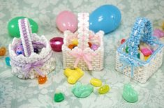 NOTE: This is a digital pattern that needs to be downloaded to your computer. You will not receive the item pictured.  Fill these pretty little lacy Easter baskets with candy to make your holiday extra special!  This is an original pattern designed by Julie Daelhousen (me!) to be worked in plastic canvas. Pattern is available as a PDF file.  Pattern uses 7-count plastic canvas and Red Heart yarn.  If youd like, for an extra $1, I will gladly print the pattern out and mail it to you. Let my…