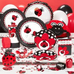 ladybug fancy baby shower party supplies 82482 - Ladybug Baby Shower Decorations