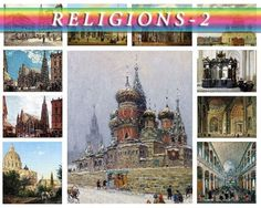 RELIGIONS-2 theme on 156 vintage paintings Christianity