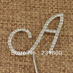 1X Rhinestone Diamante Letter Monogram Cake Toppers For Wedding Decoration $1,61