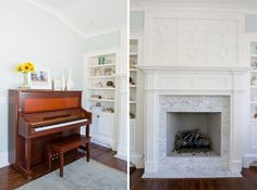 Wow - so inspired by the woodwork/wainscoting above the fireplace!  The fireplace itself is gorgeous