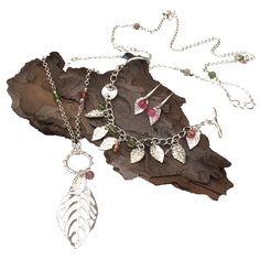 Our jewellery designs for the Leaves Inspiration Kit - full instructions are available in the kit