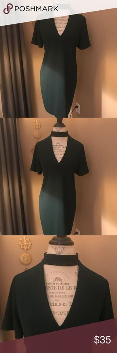 Hunter Green Zara Woman dress Zara Dress green worn once perfect final price drop never worn Zara Dresses