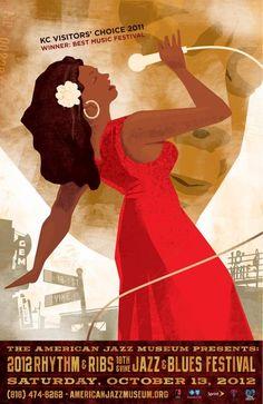 2012 Rhythm & Ribs Jazz and Blues Festival Poster.