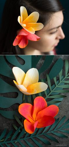 #CrepePaperFlowers You can make this! Pattern and tutorial at www.LiaGriffith.com
