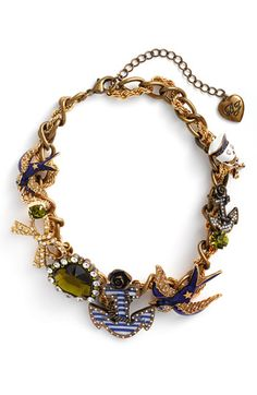 Betsey Johnson : In the Navy Collection - Torsade Necklace
