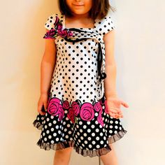 I believe I can sew...: Roses and polka dots - Butterick 5980 spiced up with Vogue 1542