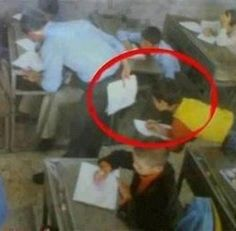 This is best way to cheat in class test