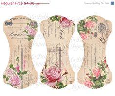 La mitad de Precio de Venta rosas Elegantes lamentables y la cinta Ephemera Frances O Cordón del Titular / Tidy, Large - Descarga de una f ...