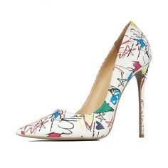 47b0824cdded Clara - Graffiti Stiletto Shoes - Forever Peach. Match the fun and cheerful  vibe of