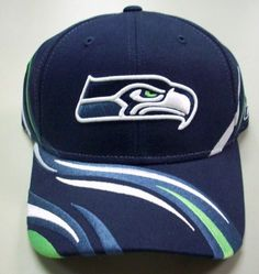 b37d6e77e79242 Seattle Seahawks Velcro Strap Back Swirls Reebok Hat by Reebok. Save 55  Off!. $9.99. THIS NAVY BLUE HAT HAS WHITE, GREEN, AND BLUE EMBROIDERED  SWIRLS AS THE ...