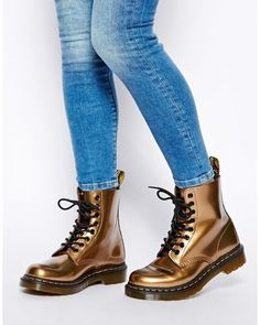 hot sale online 4bb2a 9f26f Dr. Martens Ladies Damen 1460 Soft Nappa Leather Metallic Boots, Pascal, Gr.