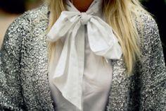 glitter, bow